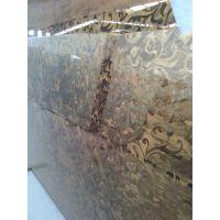 高档大理石、晶石艺术玻璃 沙河佳汇背景墙装饰玻璃 彩绘深雕艺术玻璃