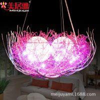 厂家批发餐厅吊灯鸟巢创意灯具现代简约鸟笼灯工艺品新年礼物