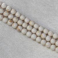 优质绿松石天然消磁石白松石散珠 饰品串珠松石项链 厂家直销特价