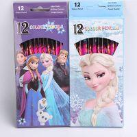 迪士尼DISNEY冰雪奇缘FROZEN/大冒险 12色彩色铅笔 卡通文具用品