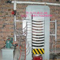 青岛国森机械制造利用橡胶木水曲柳实木弯曲热压机设备