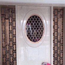 工程酒店实例图片 不锈钢大门 不锈钢电镀钛金门框订做