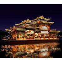 中国风游船 传统画舫船 西湖游船 秦淮河画舫船服务类船