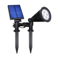 新款太阳能草坪灯插地壁装两用灯4LED壁灯新农村公园太阳能灯