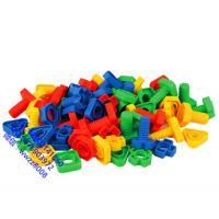 批发螺丝螺母形状配对碰积木组合塑料拼装拆装儿童益智力玩具宝宝早教幼儿园积木儿童积木螺丝配对塑料拼插拼