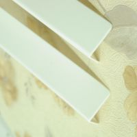 新高地防撞条 透明亚克力墙角护角 护墙角大白色纯色无印 平头型