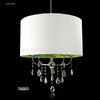 供应新品上市简约欧式吊灯客厅灯卧室布罩灯led光源餐厅灯水晶灯