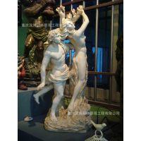 文艺复兴欧式树脂人物酒店温泉会所大堂大厅园林摆设雕像雕塑摆件