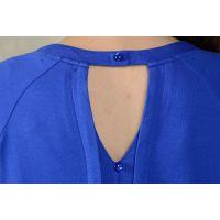 2014秋装新款 蕾丝女装上衣镂空长袖打底衫休闲印花t恤 女