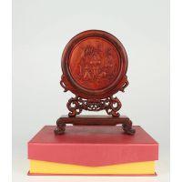 红酸枝屏风摆件红木工艺品木质木雕摆件创意摆件厂家直销定制加工