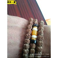 藏式老金刚菩提手链 五瓣 肉纹 金刚菩提子108颗佛珠手串