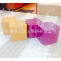 专业生产商场休闲椅  玻璃钢凳子   高档树脂纤维座凳椅子