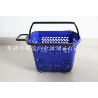 英德利热销产品新料塑料篮 拉杆购物篮 买菜篮 拉杆菜篮 拉杆车