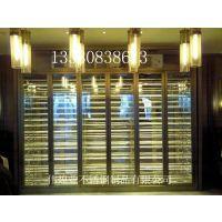 伟煌业恒温压缩机一体式不锈钢酒柜 欧式黑钛不锈钢红酒柜来图生产