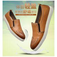 鑫三江男鞋2016春季新款时尚韩版布洛克鞋子男士透气软底一件代发