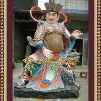 厂家供应玻璃钢四大天王,佛殿前四大金刚护法佛像。