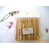 供应竹制水果叉,竹制水果签,精致厨房用具,一次性用品