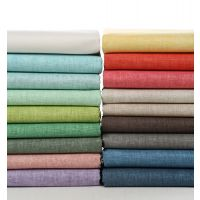DIY手工布料 韩国环保蜡涂层 纯色加厚亚麻布 140cm 18色