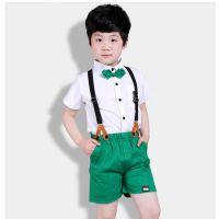 武汉洪山服装厂定做幼儿园夏季潮款男女园服 定制幼儿园英伦短袖校服中小学生