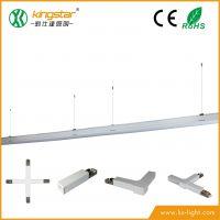 勤仕达 厂家LED铝材吊灯1.2米 40W 线槽灯 长条灯 任意对接 货柜货架灯