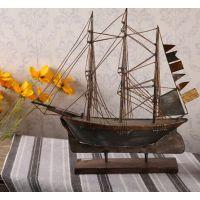 欧美风格家居饰品,摄影道具摆设,手工铁制帆船