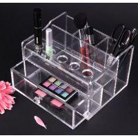 化妆品收纳盒  化妆盒 亚克力收纳 桌面 透明抽屉式 饰品盒彩粉盒