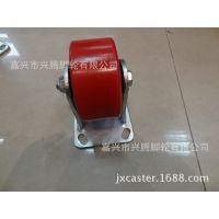 5寸重型固定轮铁心PU万向脚轮厂家供应