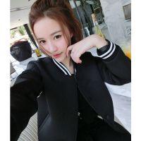 新款太空棉卫衣女潮 原宿风棒球服女装外套 学生装卫衣软妹女式