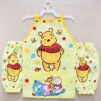 迪士尼维尼小熊卡通围裙袖套美术手工围兜儿童画画过家家必备小号