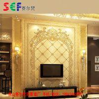 流行的欧式电视背景墙瓷砖 诚招鹤壁经销商加盟
