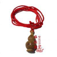 天然美洲绿檀楞严咒葫芦吊坠挂件护身符宝瓶辟邪圆柱木质佛教项坠