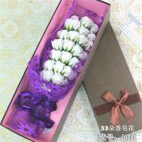 情人节33朵香皂玫瑰花束A011外贸出口货源2015新款批发