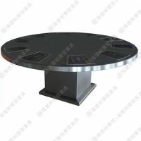 海德利厂家直销大理石火锅桌 古典中式风格圆形餐桌