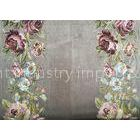 Embroidery Imitation PolyesterCurtain Fabric With Flower Design