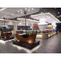 餐厅装饰船 酒店景观装饰木船生产厂家