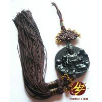 红木雕刻工艺品礼品中国结车挂佛像护身符摆挂饰圆坐观音