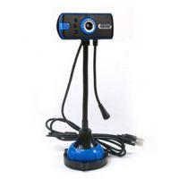 电脑摄像头 免驱动 带麦克风 夜视视频头幻彩蓝调 1200W 高清特价
