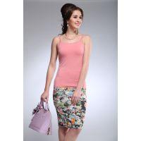夏款女装 时尚花边吊带衫性感高档修身打底衫无袖纯色女上衣