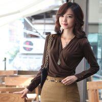 2013秋装新品 女韩版性感修身长袖T恤 大码女装v领打底衫61780