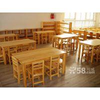 承接雅安地区大林宝宝幼儿园实木家具定做DL-216幼儿园桌椅板凳