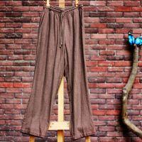 赢唐中国风男士棉麻文艺直筒宽松显高中式亚麻休闲裤