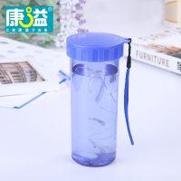 康溢新款创意晶彩水杯塑料便携带盖环保无毒无异味随心杯运动水壶