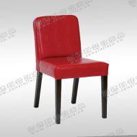 实木餐椅 单人餐桌椅 现代沙发椅子 时尚靠背软包木椅 现代餐厅火锅餐椅