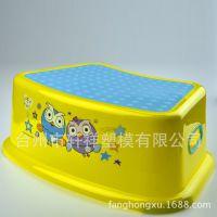 儿童加厚浴室凳塑料方板凳防滑矮凳 垫脚凳卡通印花