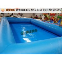 景区里的盛水气垫在哪订购 大型打气pvc泳池怎么卖 碰碰船手摇船水池