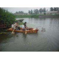 3.5米欧式木船 一头尖手划木船 木质装饰船 公园景区手划观光船