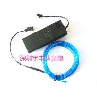 长期批发 优质节庆EL冷光线3米蓝装饰发光线 高品质el发光线厂家