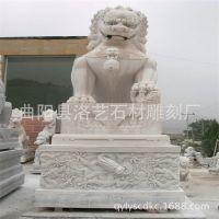 曲阳精雕汉白玉石狮子 天安门石狮子 石头雕刻狮子 动物石雕