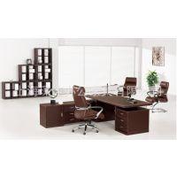 【厂家供应】定制办公家具  精品新颖实木老板台 优质中班台