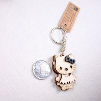 创意黑白卡通生肖木质挂件 毕业生日情侣小礼物手机包包钥匙扣链